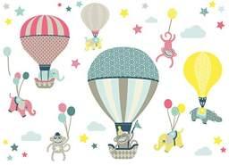 anna wand 'Heißluftballon' Wandsticker 2 DIN A4 Bögen
