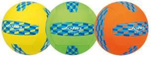 John GmbH Volleyball Neopren Sunshine, Sortiert, 23 cm Durchmesser, 270 g, Größe 5