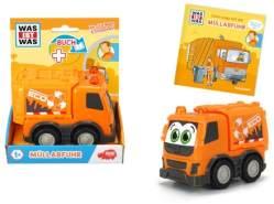 Tessloff 'WAS IST WAS' Dickie Toys Müllabfuhr. Set Fahrzeug + Buch