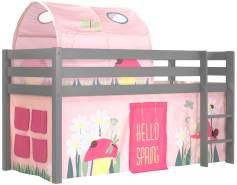 Vipack Spielbett 'Pino' mit Textilset Vorhang und Tunnel 'Spring'
