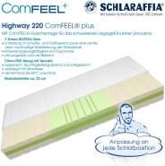 Schlaraffia 'Highway 220 ComFEEL' 7-Zonen Kaltschaum-Matratze H2, 90 x 200 cm