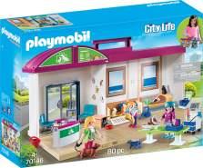 PLAYMOBIL City Life 70146 'Mitnehm-Tierklinik', 80 Teile, ab 4 Jahren