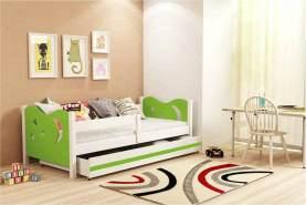Stylefy Brisko Einzelbett Weiß Grün