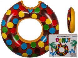 Out of the Blue Schwimmring Brauner Donut