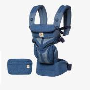 Ergobaby 'Omni 360' Babytrage 4-Positionen Cool Air Mesh Blue Blooms