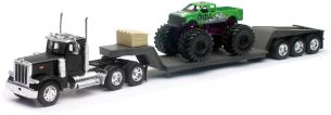 New Ray LKW, 1/32, Peterbilt 379 mit Monster Truck Big Wheel Collection im Maßstab 1:57, 810392