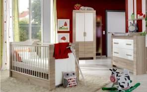 Wimex 'EMILY' 3-tlg. Babyzimmer-Set eiche sägerau/weiß