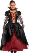 Magicoo Halloween Königin Vampir Kostüm für Kinder Mädchen, Gr. 134-140