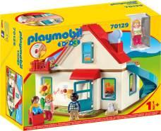 Playmobil 1.2.3 70129 'Einfamilienhaus', 27 Teile, ab 1,5 Jahren, mit funktionsfähiger Klingel und Soundeffekt