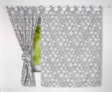 BabyLux 'Sternbild' Vorhänge mit Schlaufen, grau
