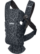 BabyBjörn Babytrage Mini, Mesh 3D (5 Farben) Anthrazit Leopard