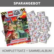 LEGO Jurassic World Trading Cards - Komplettsatz(202Karten)+ Sammelmappe