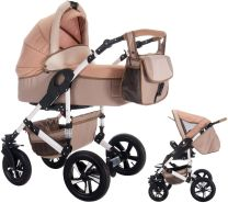 Bebebi myVARIO | 2 in 1 Kombi Kinderwagen | Luftreifen | Farbe: myGold