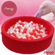 Bio Premium Bällebad FLAMINGO in hibiskusrot mit 300 Bällen aus Zuckerrohr